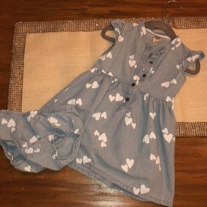 Carters denim dress with bloomers
